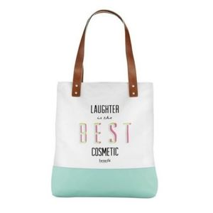 """BENEFIT """"laughter is the best cosmetic"""" tote bag"""